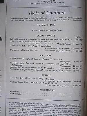 THE SATURDAY EVENING POST October 5, 1935: Stout, Rex