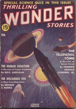 THRILLING WONDER Stories: February, Feb. 1939: Thrilling Wonder (Carl Jacobi; Frederic Arnold ...
