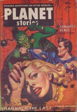 PLANET Stories; November, Nov. 1952: Planet (Leigh Brackett; Conan L. Troy; Paul L. Payne; Jack ...