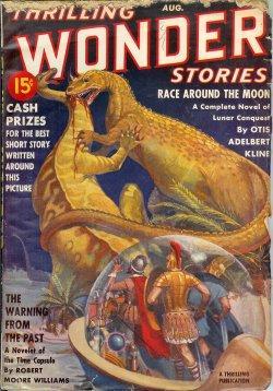 THRILLING WONDER Stories: August, Aug. 1939: Thrilling Wonder (Otis Adelbert Kline; Stanton A. ...