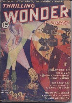 THRILLING WONDER Stories: April, Apr. 1938: Thrilling Wonder (Henry Kuttner; Jack Williamson; John ...
