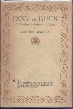 DOG AND DUCK: Machen, Arthur