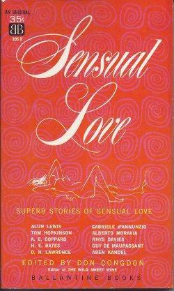 SENSUAL LOVE: Congdon, Don (editor)(Alun