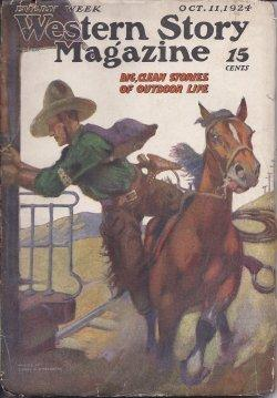 """WESTERN STORY Magazine: October, Oct. 11, 1924 (""""Larramee's Ranch""""): Western Story (..."""