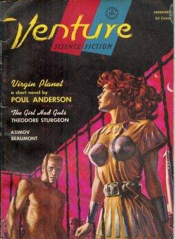 "VENTURE Science Fiction: January, Jan. 1957 (""Virgin: Venture (Poul Anderson;"