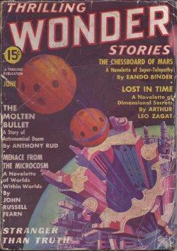 THRILLING WONDER Stories: June 1937: Thrilling Wonder (John Russell Fearn; Arthur Leo Zagat; Eando ...