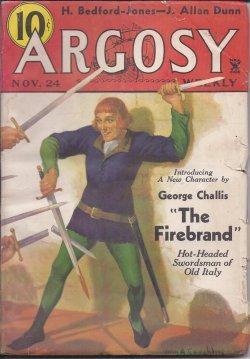 """ARGOSY Weekly: November, Nov. 24, 1934 (""""The Firebrand""""; """"The Immortals""""): ..."""