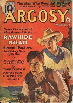 """ARGOSY Weekly: December, Dec. 16, 1939 (""""Rawhide: Argosy (Bennett Foster;"""