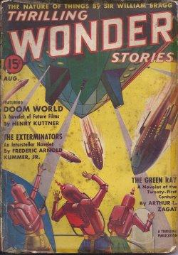 THRILLING WONDER Stories: August, Aug. 1938: Thrilling Wonder (Henry Kuttner; Frederic Arnold ...
