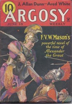 "ARGOSY Weekly: June 15, 1935 (""Lysander""): Argosy (J. Allan Dunn; Hapsburge Liebe; ..."