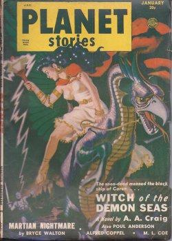 PLANET Stories: January, Jan. 1951: Planet (A. A. Craig - aka Poul Anderson; Poul Anderson; Bryce ...