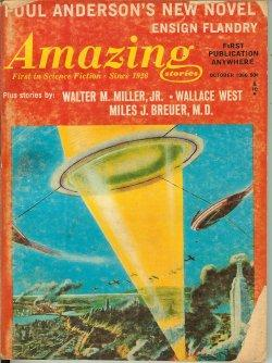 """AMAZING Stories: October, Oct. 1966 (""""Ensign Flandry""""): Amazing (Poul Anderson."""