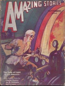 AMAZING Stories: September, Sept. 1932: Amazing (Jack Williamson; Joe W. Skidmore; J. Lewis Burtt; ...