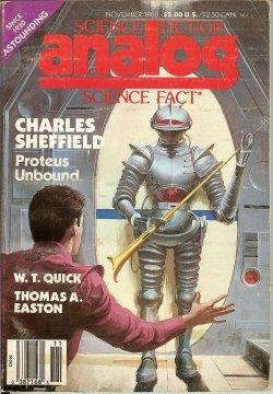 ANALOG Science Fiction/ Science Fact: November, Nov.: Analog (Charles Sheffield;