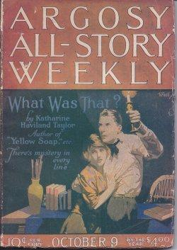 "ARGOSY ALL-STORY Weekly: October, Oct. 9, 1920 (""The Night Horseman""; ""The Ghost ..."