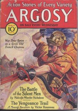 """ARGOSY Weekly: March, Mar. 21, 1931 (""""The Hothouse World""""): Argosy (M. Wheeler-Nicholson;..."""
