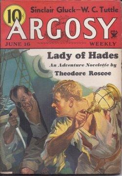 "ARGOSY Weekly: June 16, 1934 (""The Trail of Danger""; ""The Barbarians""): Argosy ..."