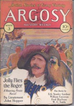 """ARGOSY ALL-STORY Weekly: August, Aug. 3, 1929 (""""The Planet of Peril""""): Argosy (Lieut. ..."""