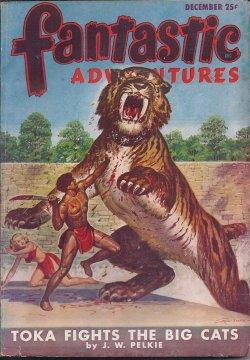 FANTASTIC ADVENTURES: December, Dec. 1947: Fantastic Adventures (J. W. Pelkie; Berkley Livingston; ...