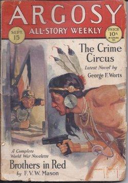 ARGOSY All-Story Weekly: September, Sept. 15, 1928: Argosy (George F.
