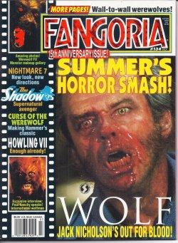 FANGORIA #134, July 1994 (Wolf; The Shadow; Howling VII; Nightmare 7; Curse of The Werewolf)
