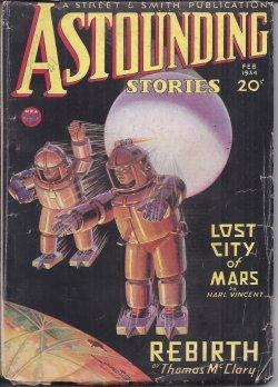 "ASTOUNDING Stories: February, Feb. 1934 (""Rebirth""): Astounding (Thomas Calvert McClary; ..."