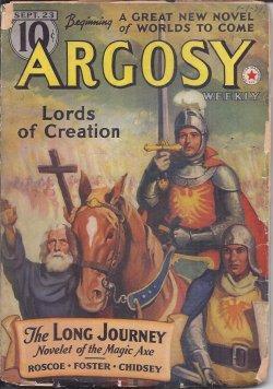 """ARGOSY: September, Sept. 23, 1939 (""""Lords of: Argosy (Eando Binder;"""