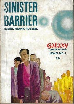SINISTER BARRIER: Galaxy Science Fiction Novel #1: Russell, Eric Frank