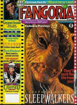 FANGORIA #111, April. Apr. 1992 (Stephen King's Sleepwalkers; Leprechaun; The Lawnmower Man; Step...