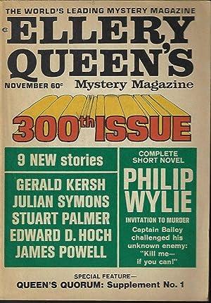 ELLERY QUEEN'S Mystery Magazine: November, Nov. 1968: Ellery Queen (Philip