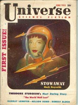 UNIVERSE Science Fiction: June 1953: Universe (Robert Bloch; Theodore Sturgeon; Murray Leinster; ...
