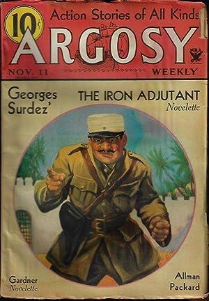 """ARGOSY Weekly: November, Nov. 11, 1933 (""""The: Argosy (Georges Surdez;"""
