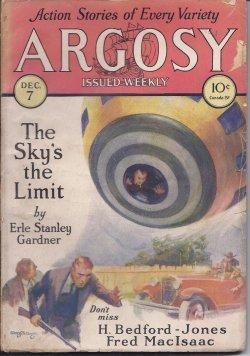 "ARGOSY ALL-STORY Weekly: December, Dec. 7, 1929 (""Cyrano""): Argosy (Erle Stanley Gardner;..."