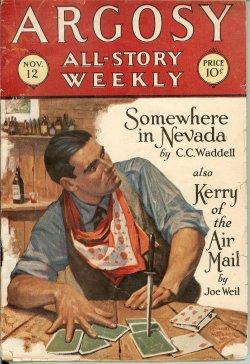 ARGOSY ALL-STORY Weekly: November, Nov. 12, 1927: Argosy (C. C.