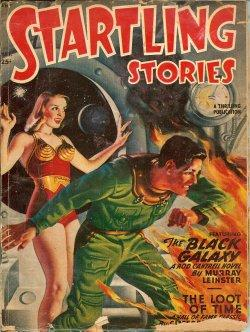 "STARTLING Stories: March, Mar. 1949 (""The Black Galaxy""): Startling (Murry Leinster; ..."