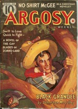 "ARGOSY Weekly: December, Dec. 31, 1938 (""Black: Argosy (Johnston McCulley;"