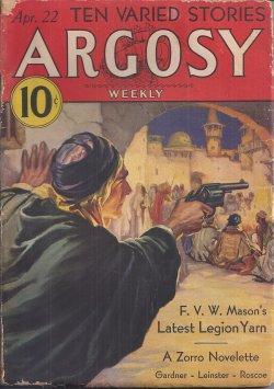 "ARGOSY Weekly: April, Apr. 22, 1933 (""The: Argosy (Johnston McCulley;"