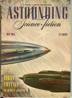ASTOUNDING Science Fiction: May 1945: Astounding (Murray Leinster; Wesley Long - aka George O. ...