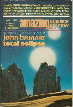 "AMAZING Science Fiction: April. Apr. 1974 (""Total: Amazing (John Brunner;"