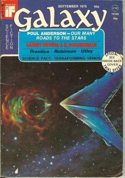 "GALAXY Science Fiction: September, Sept. 1975 (""Inferno""): Galaxy (Jeffrey Carver;"