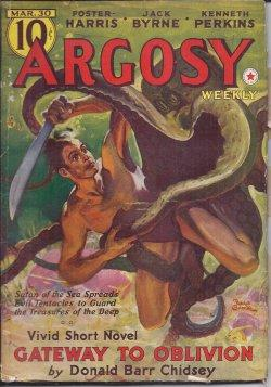 "ARGOSY Weekly: March, Mar. 30, 1940 (""The Devil's Doubloons""): Argosy (Donald Barr ..."