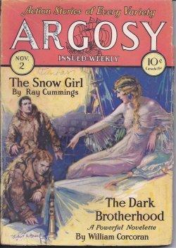ARGOSY ALL-STORY Weekly: November, Nov. 2, 1929: Argosy (Ray Cummings; Loring Brent - aka George F....