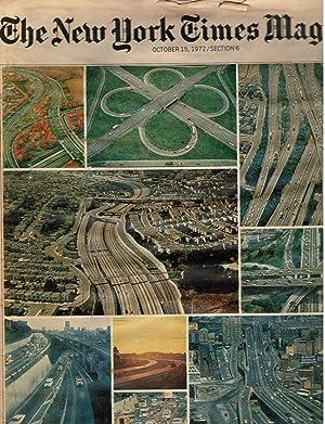 1972 the New York Times Magazine: October 15, 1972 Highway Fund, Richard Nixon, Sammy Davis Jr, ...