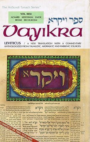 Vayikra Sefer Va Yikra Leviticus a New: Scherman