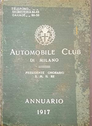 Annuario 1917 Automobile Club di Milano