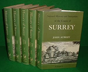 The Natural History and Antiquities of the County of Surrey , 5 vol set Facsmile