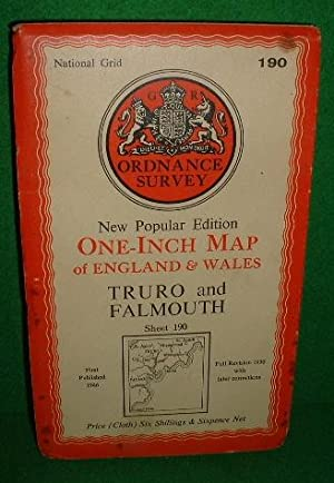 NEW POPULAR EDITION ONE-INCH MAP OF ENGLAND AND WALES TRURO AND FALMOUTH SHEET 190