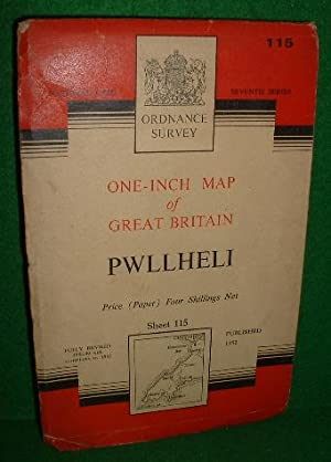 ORDNANCE SURVEY ONE-INCH MAP OF GREAT BRITAIN PWLLHELI SHEET 115