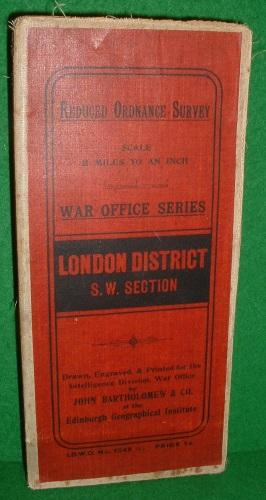 REDUCED ORDNANCE SURVEY SCALE 2 MILES TO AN INCH WAR OFFICE SERIES LONDON DISTRICT S.W. SECTION