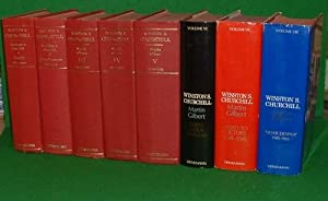 WINSTON S. CHURCHILL: THE OFFICIAL BIOGRAPHY (8 VOLS) + COMPANION VOLS (13) WITH SIGNED LETTER